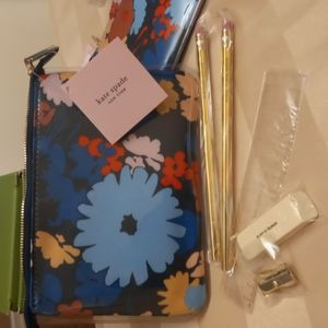 Kate Spade swing floral pencil pouch and extras - Last one